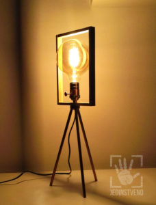 Unique tripod frame lamp