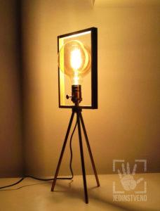 Unique tripod frame lamp